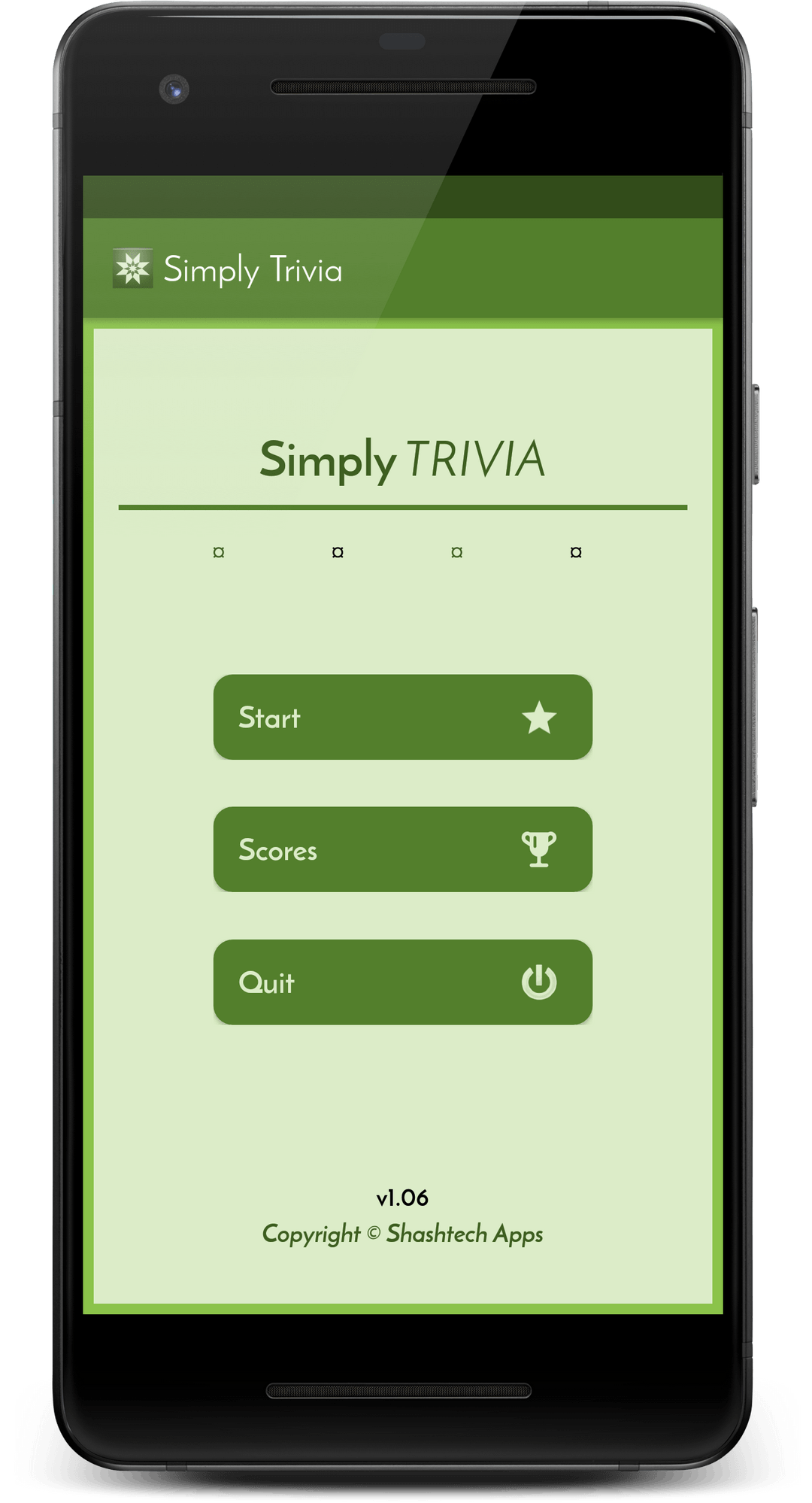Simply Trivia app screen #1